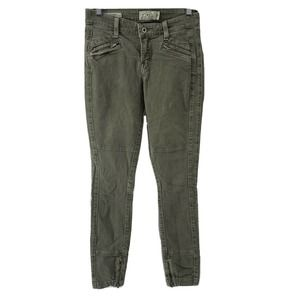 Lucky Brand Jeans Brooke Skinny Green Moto Size 0